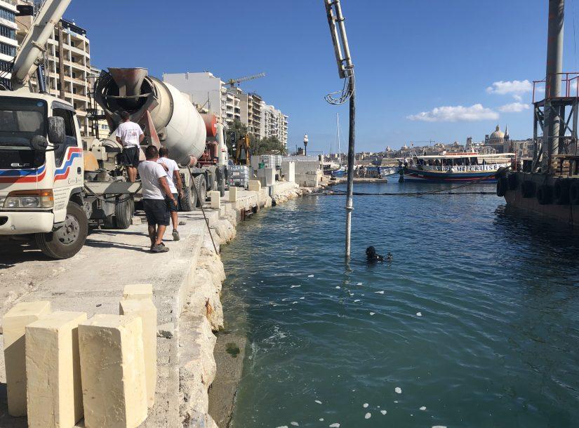 Construction of New Ferry Landing Place at Sliema, Malta